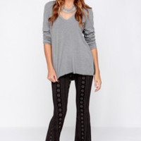Lira Farrah Grey and Black Print Pants