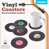 Vinyl coasters pack - homeware - gifts - men