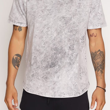 Joshua Distressed Acid Wash T-Shirt - Grey