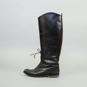 Black Leather EQUESTRIAN Riding Boots US 6.5