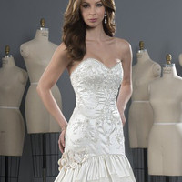 Alfred Angelo 2487 Strapless Beaded Fit & Flare Wedding Dress
