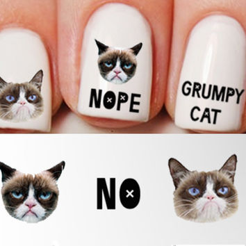 Grumpy Cat Nail Decals