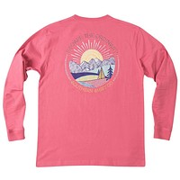 Escape the Ordinary Long Sleeve Tee in Rapture Rose by The Southern Shirt Co. - FINAL SALE