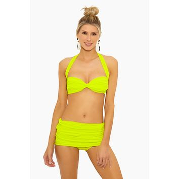 Bill Halter Sweetheart Neckline Bikini Top - Acid