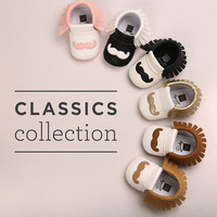 PU Leather Baby Moccasins Tassel Shoes First Walkers Anti-slip Footwear Newborn Toddler Slip-on Soft Shoes
