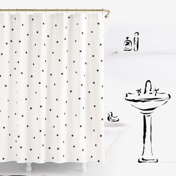 kate spade new york deco dot shower curtain | Nordstrom