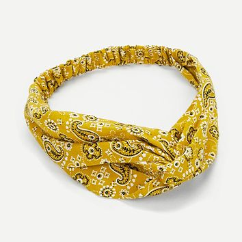 Paisley Twist Headband