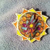 Grateful Dead sun hat pin with spinner by LifeSavingDesigns