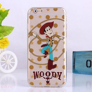 "Woody From Toy Story Transparent Clear case for iPhone 6 (4.7"" ) you will love it"