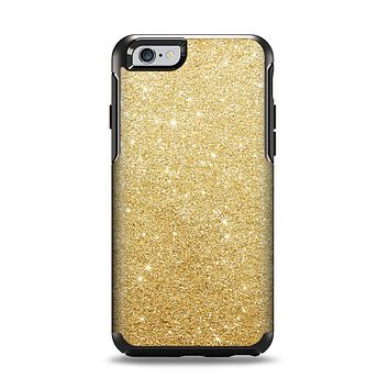 The Gold Glitter Ultra Metallic Apple iPhone 6 Otterbox Symmetry Case Skin Set