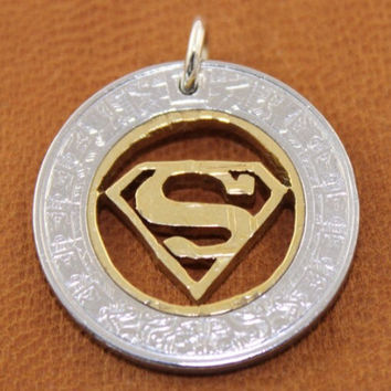 Superman Necklace, charm, keychain.