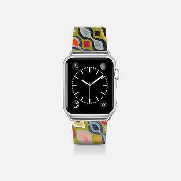 carnival ikat lime apple watch band Apple Watch Band (38mm)  by Sharon Turner | Casetify