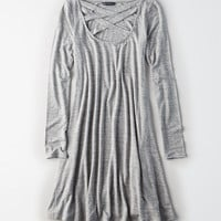 AE Crisscross Swing Dress, Heather Gray