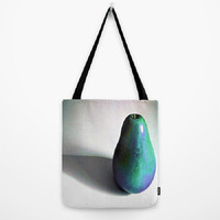 Groovy Pear - turquoise, purple - Tote Bag - 3 Sizes Available - Grocery, Beach, Gift, Busy Mom, Coworker, Teacher - Made To Order - GP#79
