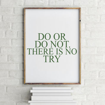 Movie quotes Star Wars Cross stitch pattern, Quote cross stitch, PDF counted cross stitch pattern - Yoda Do Or Do Not There Is No Try