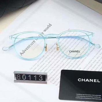 Chanel Women Fashion Popular Shades Eyeglasses Glasses Sunglasses Light blue G-A-SDYJ