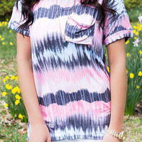 Summer Lovin Tie Dye Short Sleeve Basic Tee