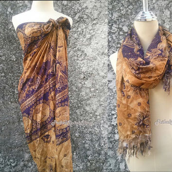 Beach Cover up & Scarf Elephant Print Sarong Shawl Summer Exotic Tribal Boho Style Hippie Scarves Summer Clothing Thaicloth Fabric Wrap Cute