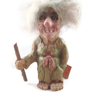 Norwegian Good Luck Troll, Bergquist Imports Discontinued Old Woman 167, Original Norwegian Ny Form Troll made in Norway