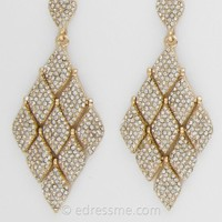 Pave Encrusted Drop Earrings by Camille La Vie