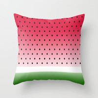 Juicy Watermelon Throw Pillow by Eileen Paulino