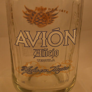20 Ounce Pure Soy Candle in Reclaimed Avion Anejo Tequila Liquor Bottle - Your Choice of Scent