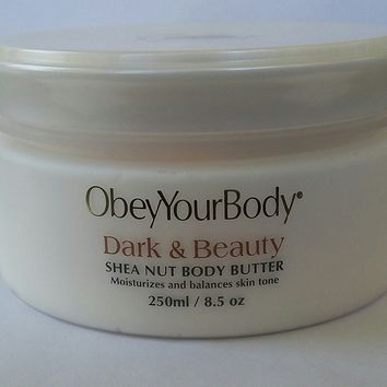 Dead Sea Obey Your Body DARK & BEAUTY SHEA NUT Body Butter 250 ml / 8.5 oz