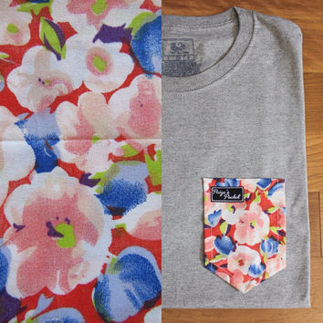 Dotty Floral - Paige's Pocket Tee