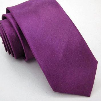 Purple Skinny Tie Boyfriend Gift Men's Gift Anniversary Gift for Men Husband Gift Wedding Gift For Him Groomsmen Gift for Friend Gift Ideas