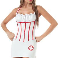 Satin Nurse costume