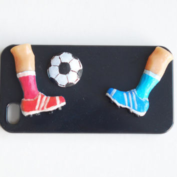 Football sneakers hard case .iPhone 4  hard case .Unusual phone case. Active summer sport for him  case Christmasinjuly sale cij