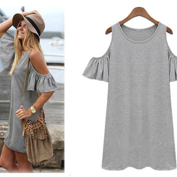 Butterfly Sleeve T-Shirt Dress