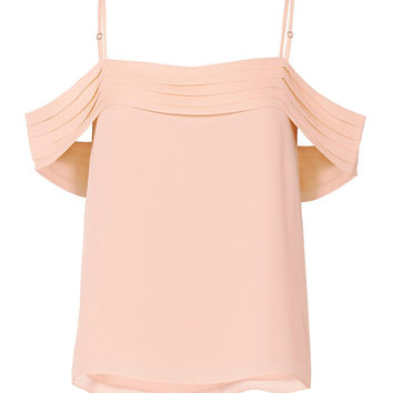 T by Alexander Wang Pleated Shoulder Pink Top - INTERMIX®