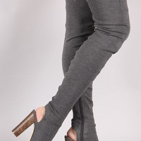 Alyce Thigh High Jersey Boot - Grey