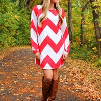 Candy Apple Shift Dress
