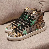 Gucci GG Tiger Leather High top Sneaker