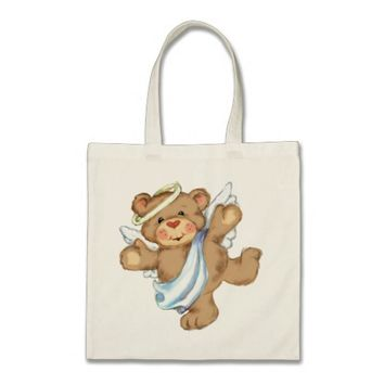 Sweet teddy bear tote bag