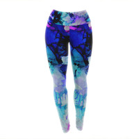 "Claire Day ""Lakia"" Blue Purple Yoga Leggings"