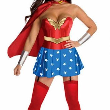 Cartoon Character Wonder Woman Sexy Costumes