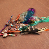Gypsy Dreamcatcher Feather Purse Charm