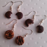 Girl Scout Cookie Earrings - Classic Trio - Thin Mint - Tagalong - Samoas - Handmade by Starfall at Dusk