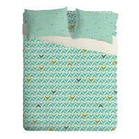 Heather Dutton Take Flight Aqua Sheet Set Lightweight