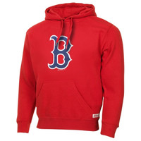 Boston Red Sox Stitches Logo Dugout Fleece Pullover Hoodie – Red