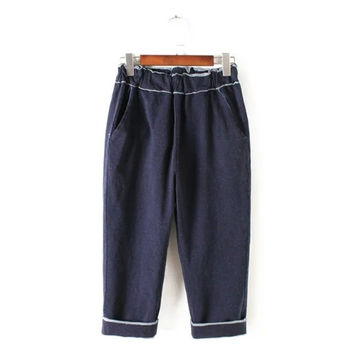 Summer Women's Fashion Denim Pants Cropped Pants [4920279492]