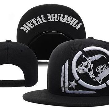 low priced 39245 bf033 Perfect Metal Mulisha Snapback hats Women Men Embroidery Sports