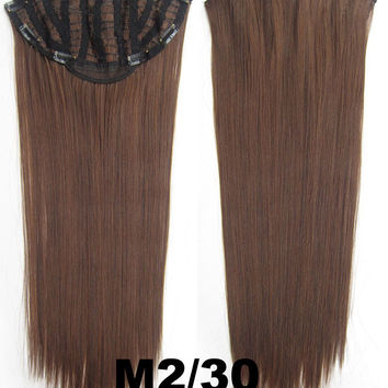Bath & Beauty 7 Clip in Elastic Cap Wig Straight hair synthetic hair extension hairpieces wavy slice curly hairpiece SCH-666 M2/30,Hair Care,fashion Cosplay ombre 1PCS