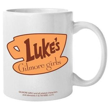 Gilmore Girls Luke's Diner Logo 11 oz Coffee Mug - White