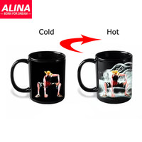 Luffy Color Changing/Change Porcelain Mug Heat Sensitive Mug Ceramic Cup For Coffee Tea Milk Holiday Gift