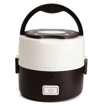 1.3L Electric Heating Container Mini Rice Cooker Double Insulation Plug Heating Multi-function Cooking Steaming Lunch Box