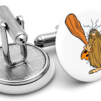 Captain Caveman Cufflinks